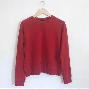 PacSun Red crewneck sweater